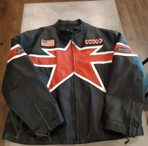 Other - Leather motocross jacket